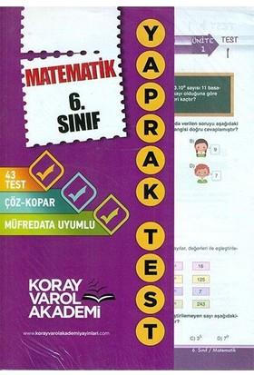 Koray Varol 6. Sınıf Matematik Yaprak Test