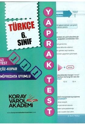 Koray Varol 6. Sınıf Türkçe Yaprak Test