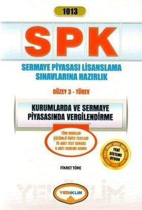 Yediiklim Yayınları SPK Kurumlarda Ve Sermaye Piyasasında Vergilendirme