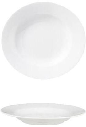 Güral Porselen Köşeli&Yeni Otel 21 Cm Çukur Tabak 12 Adet