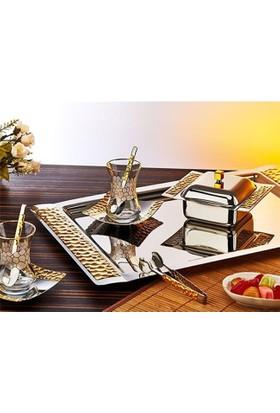 İslamoğlu Petek Gold Çay Seti 40 Parça