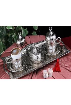 Sena Elif Kahve Seti 2Li Set - Bakır
