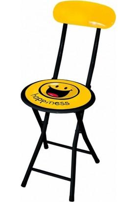 Smiley Sarı Sandalye