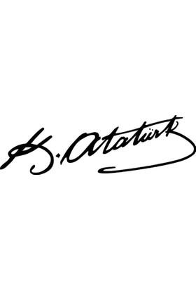 DekorLoft Araç İçin Atatürk İmzası Sticker 25X9 Cm