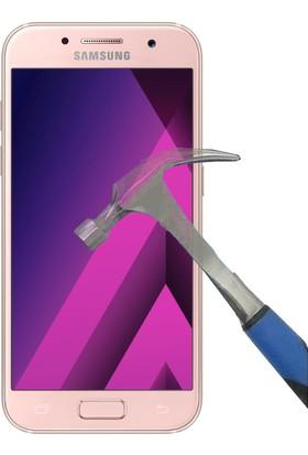 Teleplus Samsung Galaxy A3 2017 Plastik Ve Cam Ekran Koruyucu Karışımı Cam Ekran Koruyucu