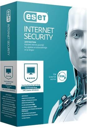 Eset Internet Security V10 - 1 Kullanıcı Kutu EIS1