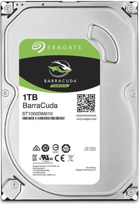 "Seagate Barracuda 1TB 3.5"" 7200RPM 64MB Cache Sata 3 Sabit Disk ST1000DM010"