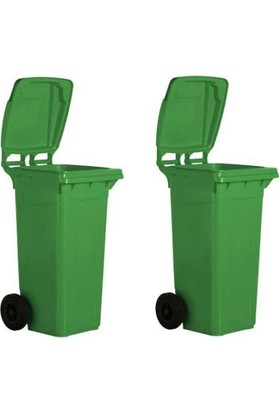 İthal Çesit Çöp Konteyner 2 Teker 120 Lt. Yeşil