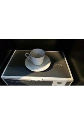 Kütahya Porselen Sedefli Türk Kahvesi Takımı 12 `Li