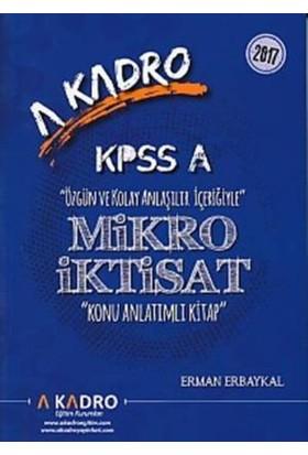 A Kadro Kpss A Mikro İktisat Konu Anlatımlı Kitap