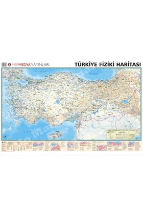 Mep Harita Türkiye Fiziki Haritası 70x100 Çitalı Yazılıp Silinebilir