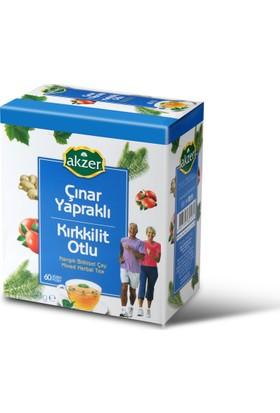 Akzer Çınar Yapraklı Kırkkilit Otlu Çay 60Lı Poşet