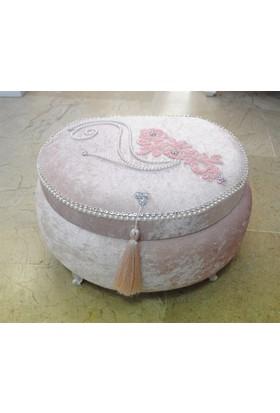 Çeyizci Gül Çeyiz Makyaj Sandığı (Pudra)