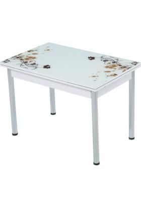 Gül Masa Sandalye Baştan Uzamalı Masa