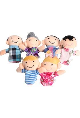 Happy Fingers Parmak Kukla Ailesi 6'Lı Peluş Oyun Seti