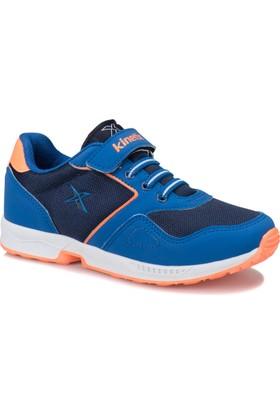 Kinetix Flat Lacivert Saks Neon Turuncu Erkek Çocuk Sneaker Ayakkabı