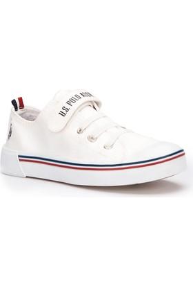 U.S. Polo Assn. Penelope Beyaz Unisex Çocuk Sneaker Ayakkabı