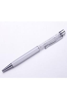 Monemel Swarovski® Taşlı Beyaz Tükenmez Kalem