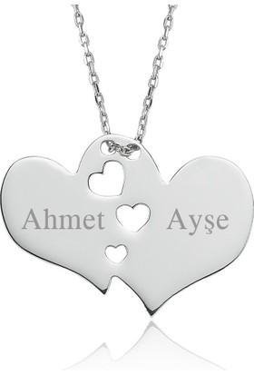 Soufeel 925 Ayar Gümüş Stil Çift Kalp Sevgili İsim Kolye