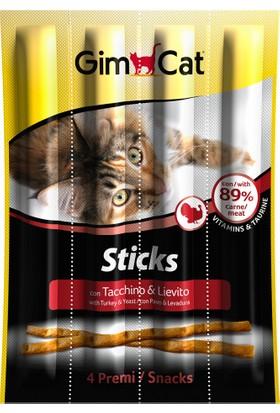 Gimcat Sticks Hindili Mayalı Kedi Ödül Çubukları 4 Adet