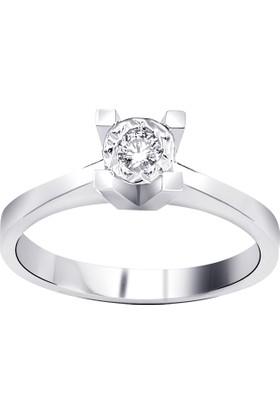OJA Diamond 0,50 Karat Efektli Crinkle Pırlanta Tektaş Yüzük