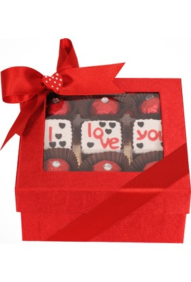 ChocChic Saten Kutu Aşk Çikolatası