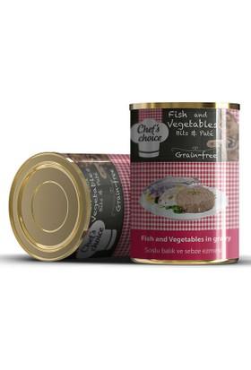 Chefs Choice Soslu Kıyılmış Balıklı Ve Sebzeli Konserve Kedi Maması 400 Gr