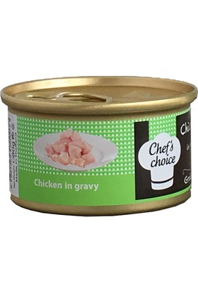 Chefs Choice Chicken In Gravy Soslu Tavuk Etli Tahılsız Kedi Konservesi 80Gr