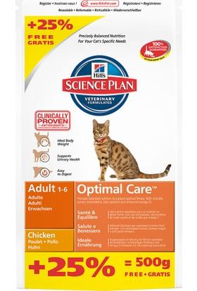 Hills Science Plan Adult Chicken Tavuklu Yetişkin Kedi Maması 2 kg + 500 gr Entegre Paket