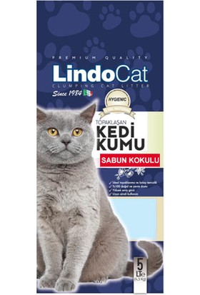 Lindo Cat Topaklanan Bebek Pudralı Hijyenik İnce Taneli Kedi Kumu Sabun Kokulu 5 Lt