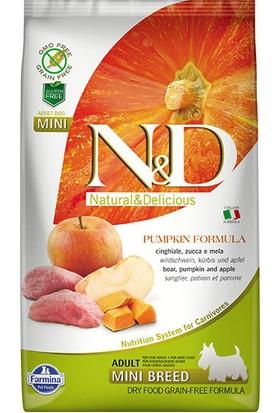 N & D Pumpkin Tahılsız Bal Kabaklı, Yaban Domuzu Etli Ve Elmalı Ufak Irk Yetişkin Köpek Maması 2.5 Kg