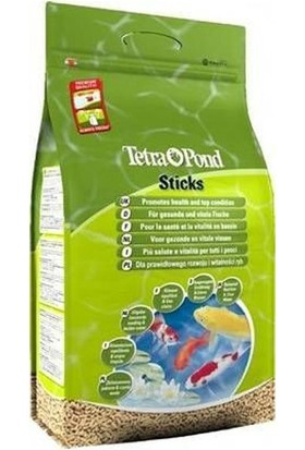 Tetra Pond Koi Sticks Yeşil Havuz Balığı Yemi 25 L