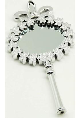 Smartevim Nikah Şekeri Gümüş Ayna Hediyelik Kına 25 Ad. Süsleme Malzemeleri