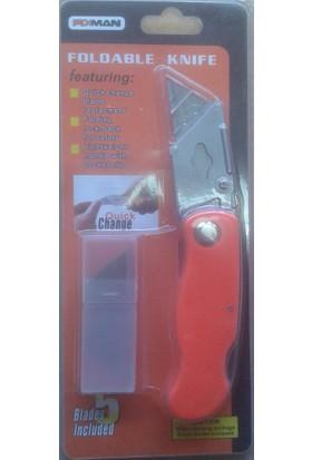 Fixman Katlanır Maket Bıçağı Falçata + 5 Adet Yedek Bıçak