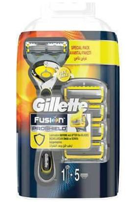 Gillette Proshield Tıraş Makinesi + 5'li Tıraş Bıçağı