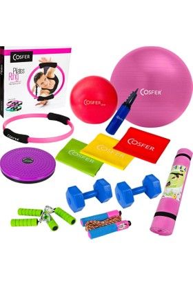 Cosfer Tam Ultra Herşey Dahil Pilates ve Egzersiz Seti CSF-1290