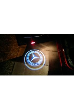 Boostzone Mercedes Kapı Altı Işıklı Logo