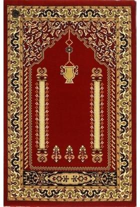 Saray Pusulalı Namazlık Kırmızı Halı Seccade 10557KPS 65x115 cm