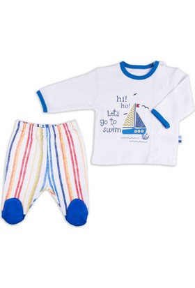 Baby Center S91684 Yelkenli Yandan Çıtçıtlı 2'li Bebek Takımı