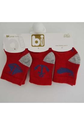 Bibaby 68106 Marine 3'lü Bebek Çorabı