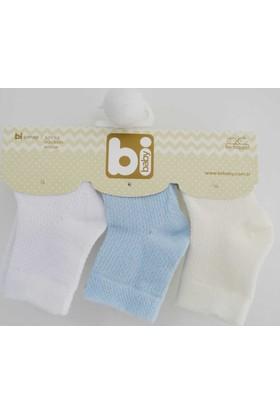 Bibaby 68115 Pirinç Örgü 3'lü Bebek Çorabı