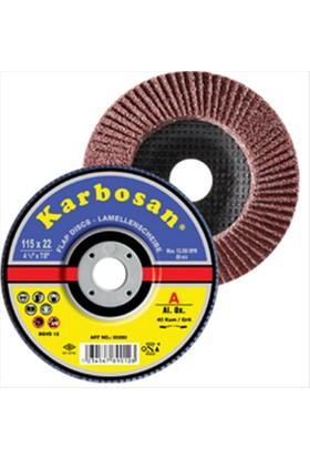 Karbosan 115 Mm 40 Kum Flap Disk Zımpara