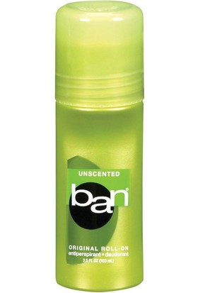 Ban Unscented Roll-On Antiperspirant Deodorant 103 ml