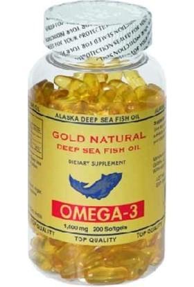 Gold Natural Omega 3 Balık Yağı 200 Softgels