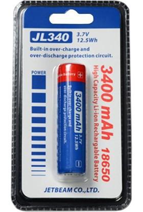 Jetbeam Jl340 3400Mah 18650 Şarj Edilebilir Pil