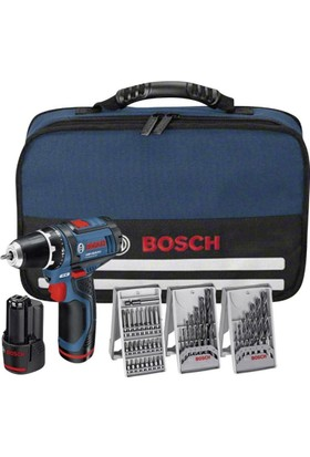Bosch GSR 10.8-2 li Akülü Vidalama Çift Akülü + 3 parça Aksesuar setli