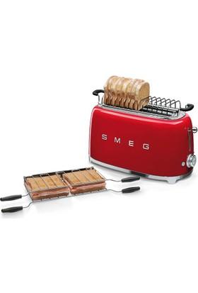 Smeg TSF02RDEU 2x4 Ekmek Kızartma Makinesi Kırmızı