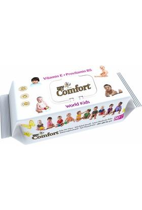 My Comfort Islak Bebek Mendili 80 Adet Kapaklı + My Comfort Bebek Kulak Temizleme Çubuğu 60 Adet
