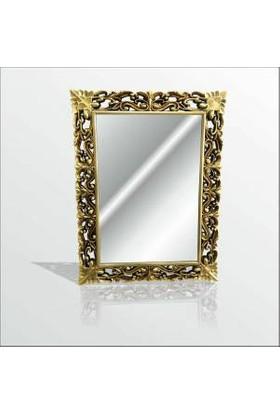 M3 Decorium Altın Yaldız Varak Rustik İşlemeli Boy Banyo Duvar Salon Aynası