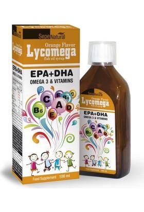 Lycomega LycOmega 3 100 ml Portakal Aromalı Balık Yağı Şurubu